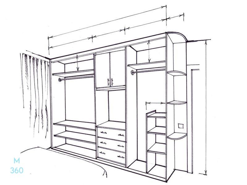 Шкаф встроенный для ниш на заказ Арт 5