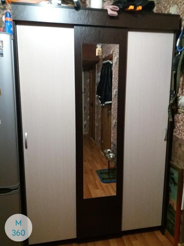 Серый распашной шкаф Лука Арт 000761249
