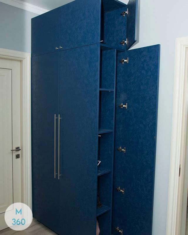 Синий распашной шкаф Колумбия Арт 001083357