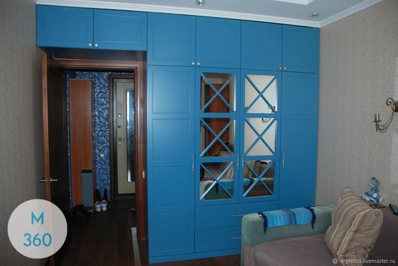 Синий распашной шкаф Рива Арт 001482078