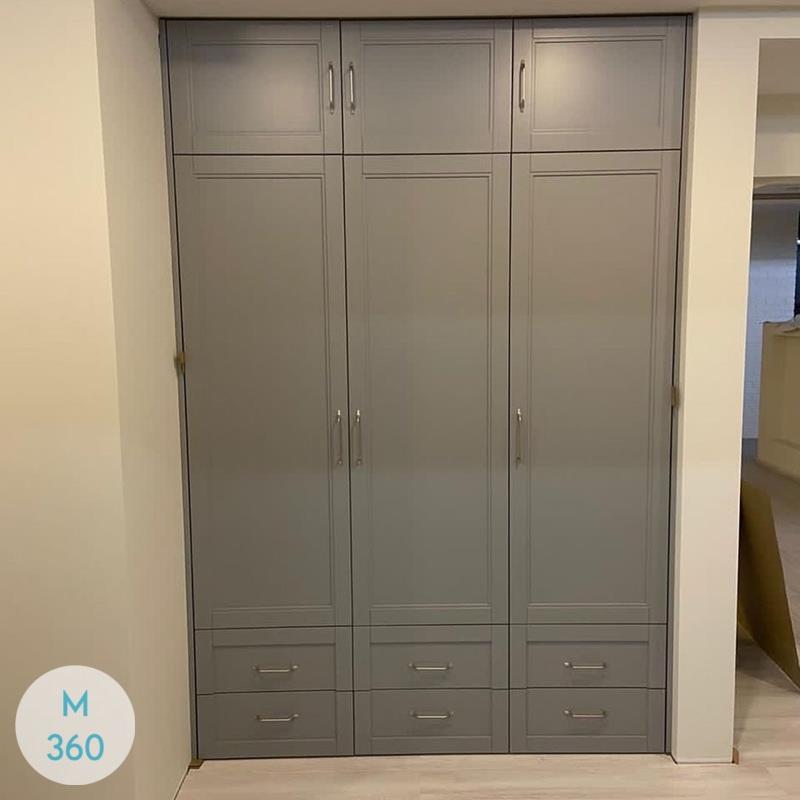 Серый шкаф купе Стерлинг-Хайтс Арт 002867553