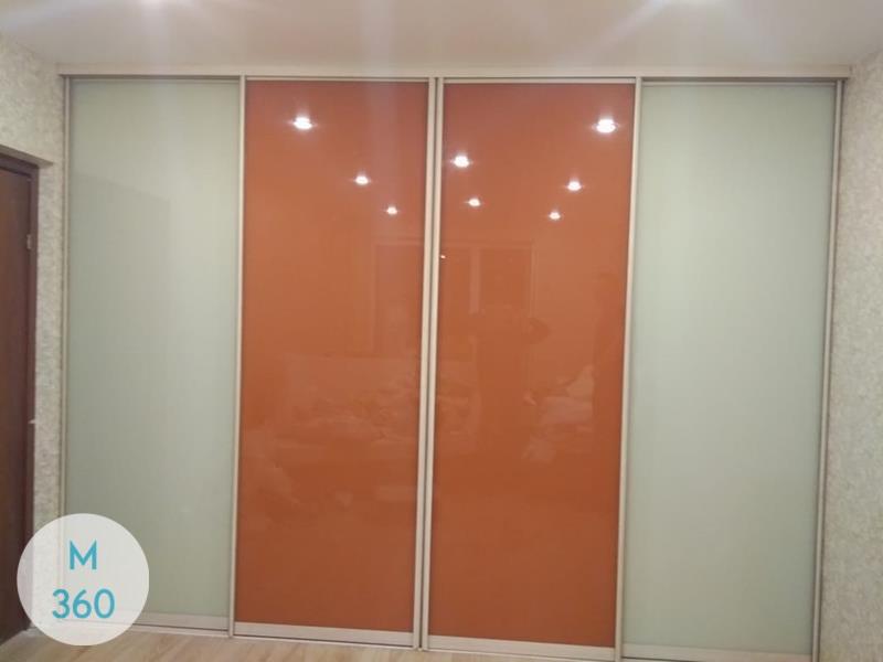 Оранжевый шкаф купе Элизабет Арт 002971348