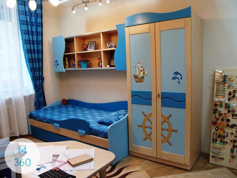 Синий распашной шкаф Анкара Арт 003106682