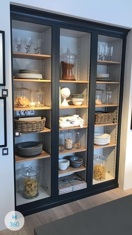 Распашной шкаф со стеклянной дверью Пинна Арт 003324546