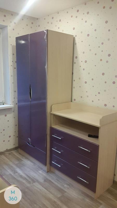 Распашной глянцевый шкаф Или Арт 003773281