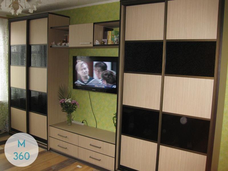 Шкаф купе с кожаными вставками Манчестер Арт 003784923