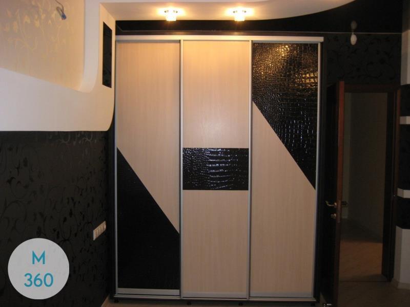 Шкаф купе с кожаными вставками Благо Арт 004047530