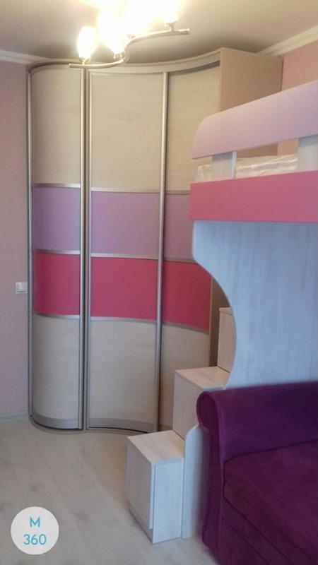 Выпуклый радиусный шкаф Кванго Арт 004322227