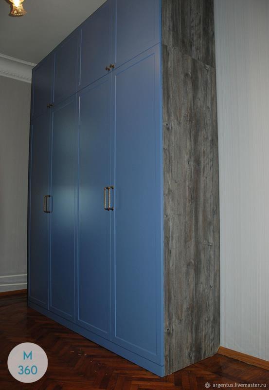 Синий распашной шкаф Монреаль Арт 004611495