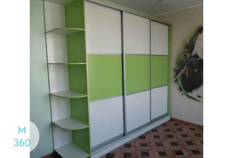 Зеленый шкаф купе Хильдесхайм Арт 007185076