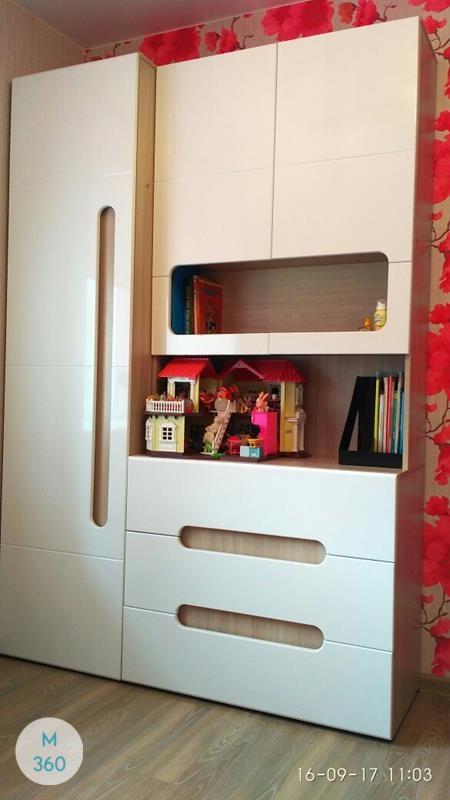 Распашной глянцевый шкаф Варшава Арт 009341880